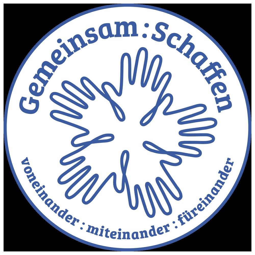 """Bei dem Bild handelt es sich um das Logo des Ideenwettbewerbs """"Gemeinsam:Schaffen"""""""